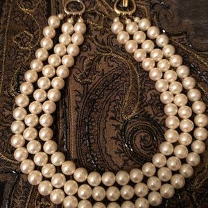 """Jewelry - Triple strand of pearls 17"""" long"""
